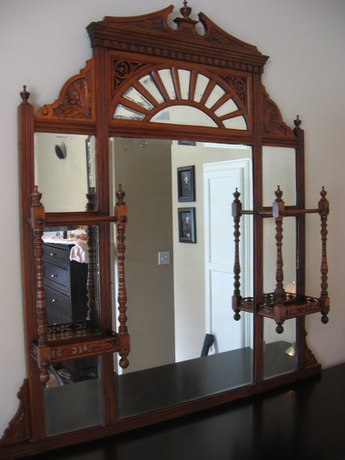 English overmantle mirror