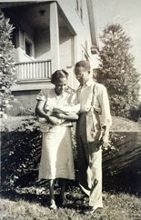 Clifford Walker's parents, Clifford and Emma, with their first born, Cornelia, in Humboldt in 1938.