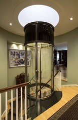 Glass cable home elevator