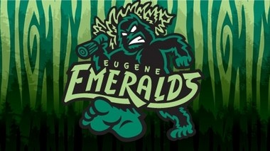 The new Eugene Emeralds logo, featuring Sasquatch.