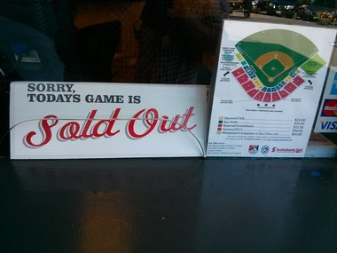 Since 2007, this sign has become a common sight at Nat Bailey Stadium.