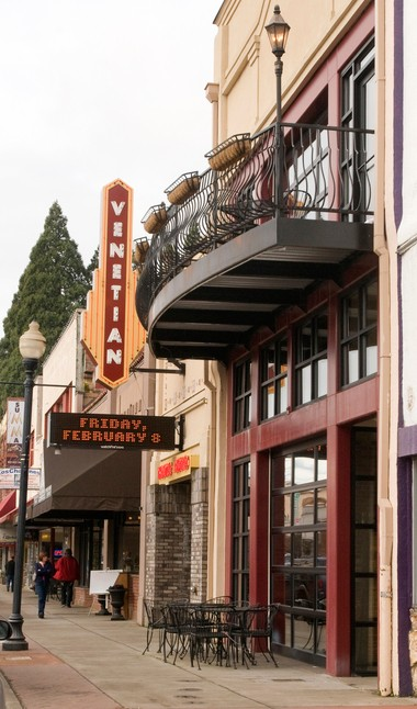 The Venetian Theatre & Bistro is a popular downtown Hillsboro attraction. Denzil Scheller reopened the Venetian in 2008, partnering on the restaurant with Saxony Peterson. Scheller said the building will officially hit real estate listings in the coming weeks (Michal Thompson/The Argus)