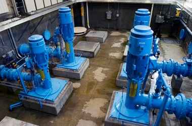 Pump station at the Wilsonville Water Treatment Plant, which provides drinking water from the Willamette River. Hillsboro is considering the river as a secondary water source (Brent Wojahn/The Oregonian).