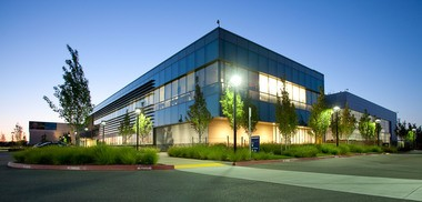 Genentech's sparkling facility in Hillsboro. The company over-reported its assets, according to state Departement of Revenue officials, and taxpayers will pay the brunt of the miscalculation (Courtesy of Genentech).