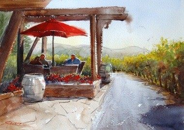 """Sandra Pearce's """"Wine with Friends"""" is the 2013 addition to the City of Hillsboro Public Art Collection."""