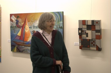 Hillsboro painter Anne Ferguson, 80, helped organize the first show at the new art gallery at the Hillsboro Main Library. The library's grand opening ceremony is on Sunday, June 2.