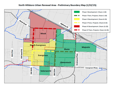 Hillsboro wants to use an urban renewal district to jumpstart large-scale development on the city's north side over the next 25 years.