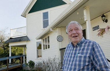 Ray Haag at his historic home on 253rd Avenue. (2013 file photo)
