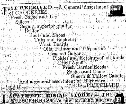 An early dry goods ad