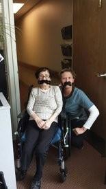 Resident Kiyoko Outlaw and Sara Albers don disguises for fun.