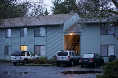The apartment complex in Corvallis where Brenda Tracy was allegedly gang raped in 1998. The photo was taken on Dec. 17, 2014.