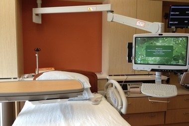 Rooms in the Women and Newborn Care unit at Kaiser Permanente's Westside Medical Center have touchscreens that patients can use to order food, watch TV and surf the Internet.