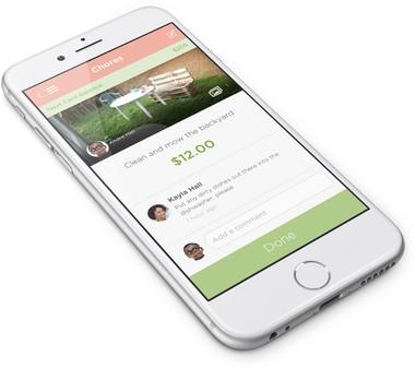 A screen grab from the Piggybank app, now under development in Portland.