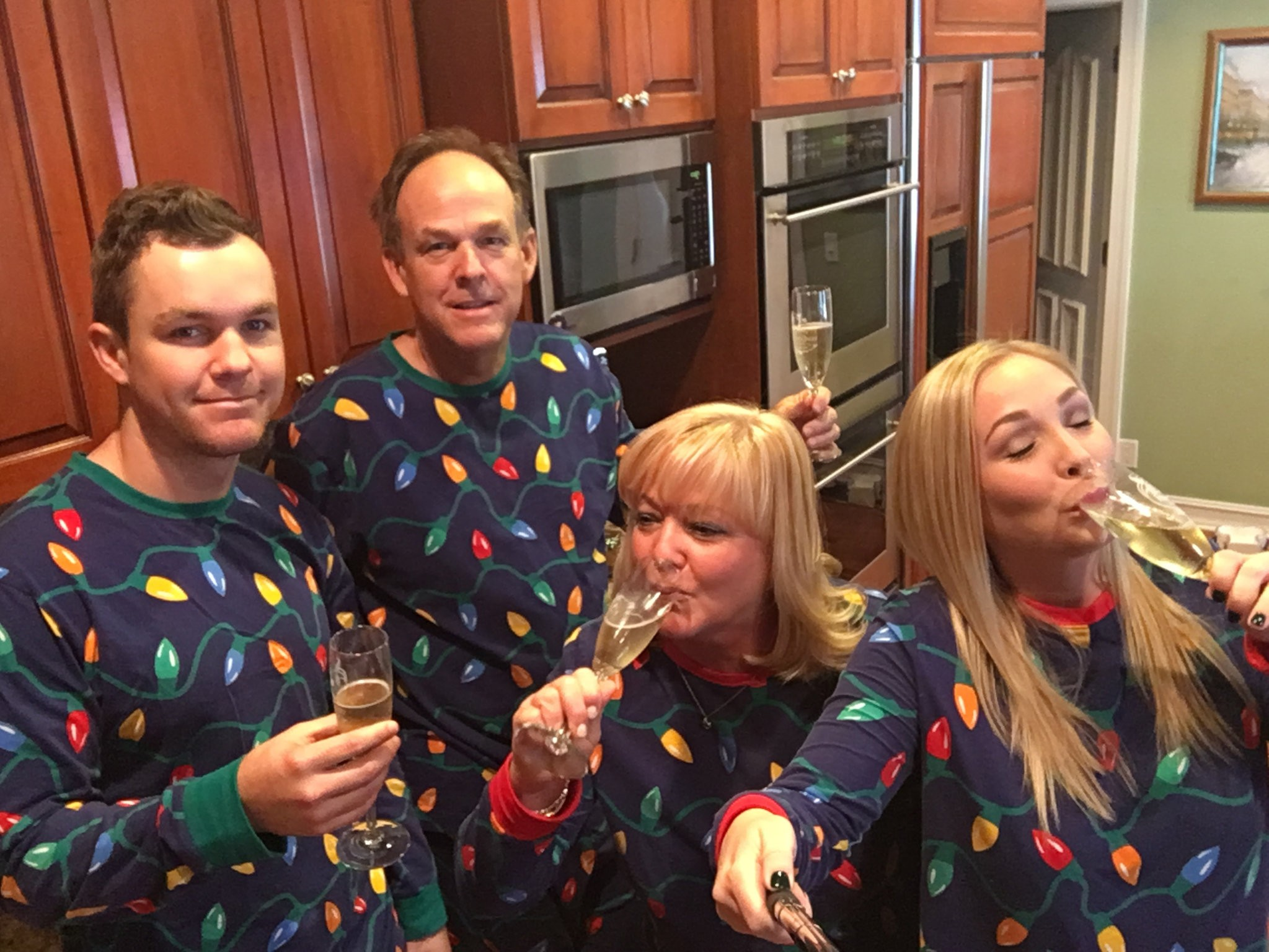 Family Christmas Pajamas Photoshoot.Matching Family Pajamas Are The New Ugly Christmas Sweaters