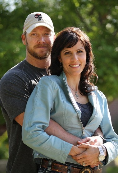 """Chris and Taya Kyle in April 2012. Chris Kyle, author of """"American Sniper: The Autobiography of the Most Lethal Sniper in U.S. Military History"""" was shot dead Saturday at a Texas shooting range."""