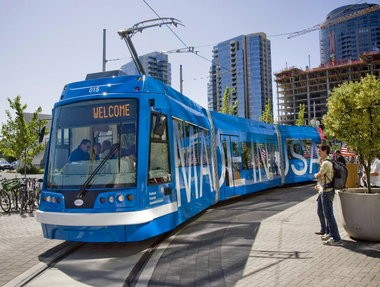 U.S. Transportation Secretary Ray LaHood, among others, spoke at the unveiling of the first street car built in America in 60 years by United Streetcar in July 2009. But that streetcar -- the prototype -- didn't go into service until Sept. 2012 and will be pulled from the fleet this year for improvements.