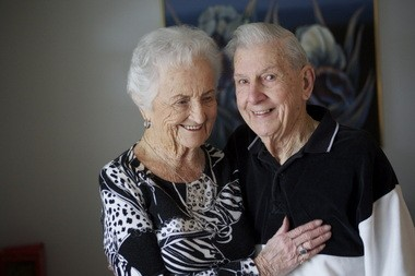 """Bob Krise, on being married for 71-plus years to Barbara: """"You can't live that long without having disagreements occasionally, but (it) never caused a breakup. Got a few more years to go."""""""