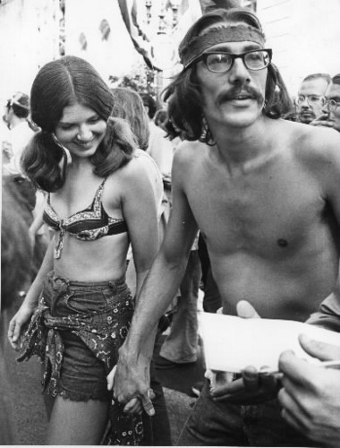 Maureen and Lester Lamm were newlyweds when they were photographed at a Portland peace march in September 1970.