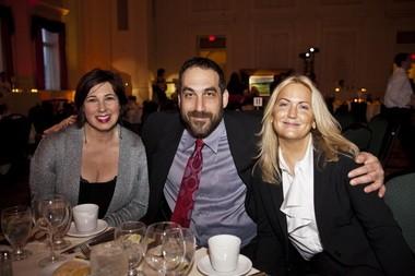 Leslie Geller, left, board member and event co-chairwoman; Richard Geller; and Jane Vereschagin, event co-chairwoman.