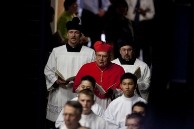 Cardinal William J. Levada attended the Mass of installation for the Most Rev. Alexander K. Sample, the new archbishop of Portland.