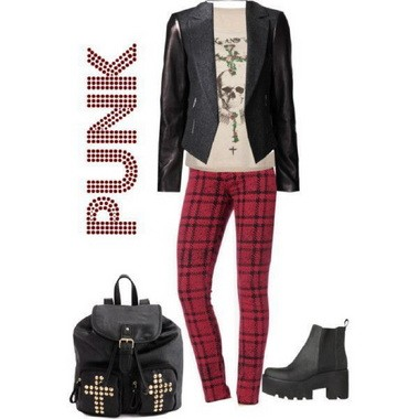 How to wear plaid--classic, boho, preppy and punk
