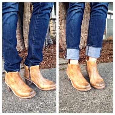 b0eaaee886a Don't tuck your straight leg jeans into your booties, Do roll them 1