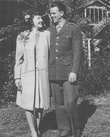 Connie and Pat O'Brien were married on April 1, 1944, in Atlanta, Georgia.