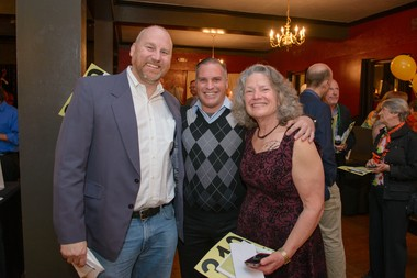 (left to right) Mike Steffen, Walsh Construction vice president/general manager; Rich Miller, owner of Affinity Property Management; and Carla Piluso, board president