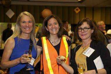 (left to right) Board member Joan Steinbach, Development Director Mari Yerger, and board member Beth Blenz-Clucas