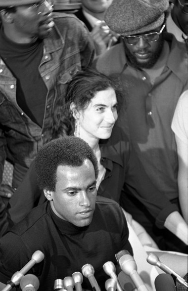 Fay Stender and her client, Black Panther leader Huey Newton.