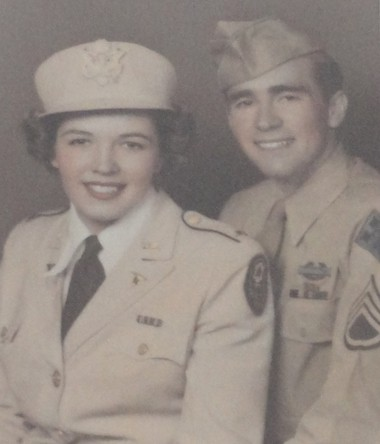 Betty was a first lieutenant and Ray had recently been promoted to tech sergeant when they married in 1945.