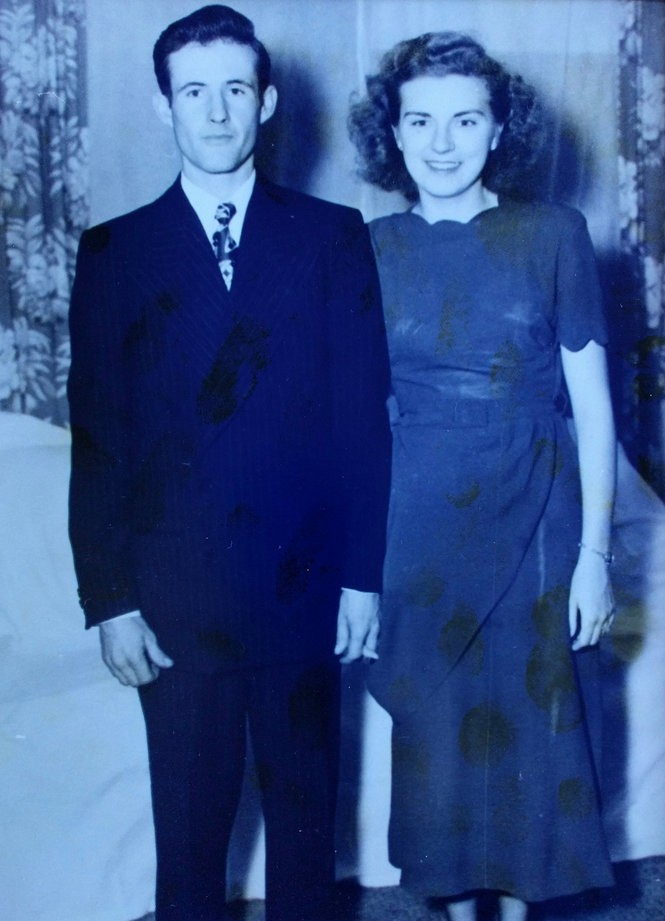 Ray and Marie Mahan were married on Nov. 10, 1948, in Corvallis.