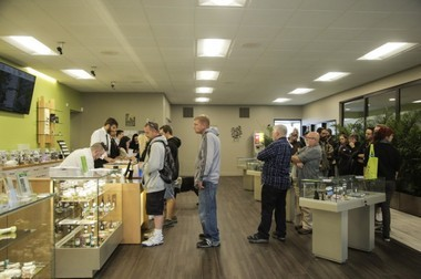 Cannacea on Oct. 1, 2015, the first day recreational marijuana was legal to buy in Oregon.