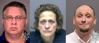 Murder suspects Lynn Benton (from left), Susan Campbell and Jason Jaynes