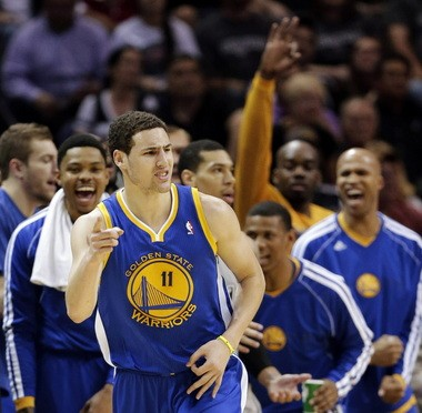 official photos 95b65 74886 NBA playoffs: Klay Thompson, Golden State end 30-game skid ...