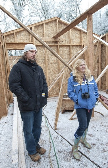 Bryan and Stephanie Farris say they chose Hand & Hammer of Portland to build their passive-energy home near North Plains because they wanted to use local companies and local material as much as possible. Windows for the house, however, are coming from Poland, because the triple-paned models they wanted are not built in the United States.