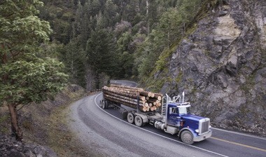 Clackamas County is taking advantage of good timber prices to help pay off the Stonecreek Golf Course. A private-lands hauler is seen in this file photo.