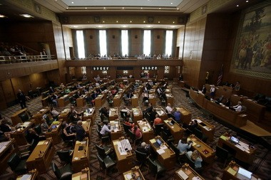 The Oregon House is shown shortly before the Legislature adjourned last month.