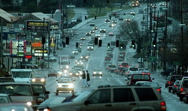 Highway 99, looking southward in Tigard, in a file photo from 2000.