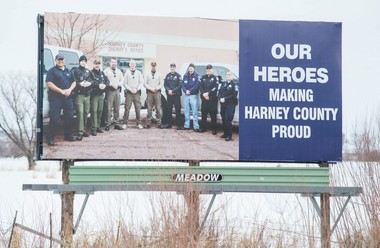 This is one of two billboards that went up Friday, Feb. 5, 2016, insupport for law enforcement and the community.