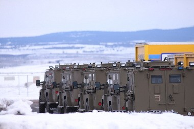 Law enforcement personnel at the airport in Burns in January during the occupation of the Malheur National Wildlife Refuge.