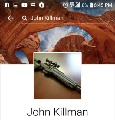 A Facebook page put up under the alias 'John Killman.' Defense lawyers learned the Facebook page was created in January, after the occupation of the Malheur National Wildlife Refuge had started.