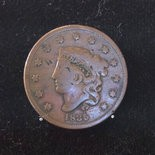 The Portland Penny, the coin used in 1845 to determine the name of what was then a village, is on display at the Oregon Historical Society