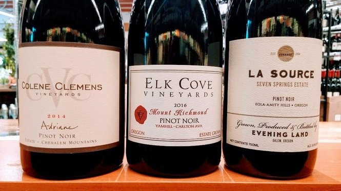 Wines from the Chehalem Mountains, Yamhill-Carlton and Eola-Hills sub-AVAs.