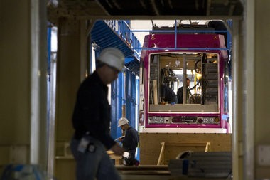 United Streetcar put its first production-line vehicle, seen here in 2012, into service on Tuesday.