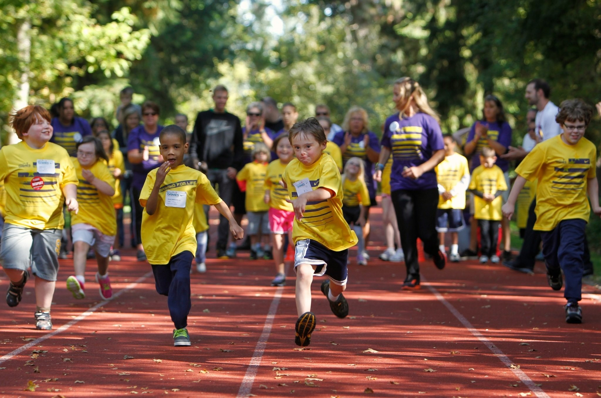 Seven-year-old Thomas Gibson, who has Down syndrome, takes part in a running race during Oregon Special Olympics' 2012 Youth Games. Newberg hosts the state Summer Games on Sunday.