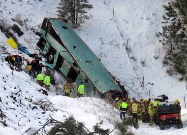 Investigators are still looking into a bus crash that left nine people dead.