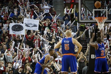 The Rose Garden was an unfriendly place for Raymond Felton in his return to Rip City.