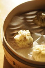 Soup dumplings from Aviary's monthly pop-up.
