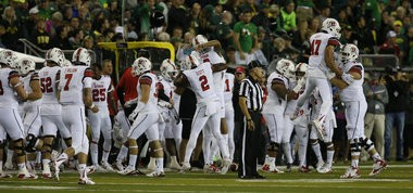 Utah players celebrate during the game.